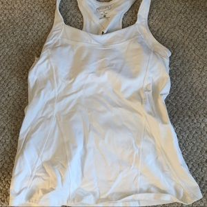 Athleta white tank top size small
